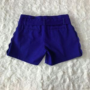 Banana Republic Shorts - BANANA REPUBLIC Pleated Bow Tie Scalloped Shorts
